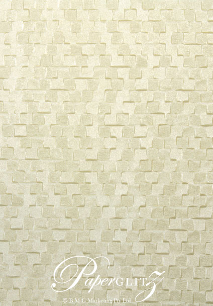 Handmade Embossed Paper - Trident Ivory A4 Sheets
