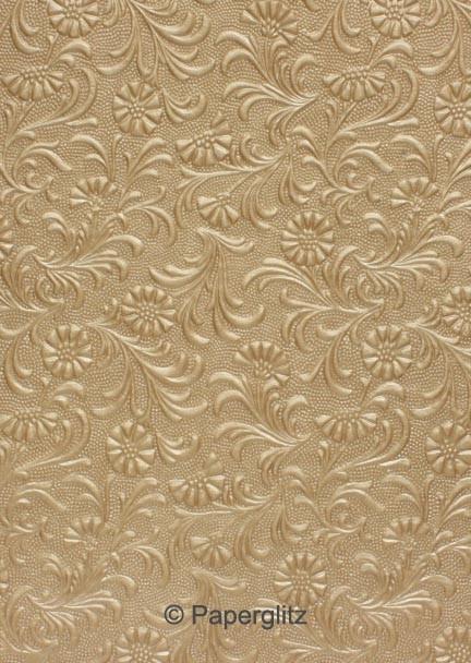 Handmade Embossed Paper - Tuscany Mink Pearl Full Sheet (56x76cm)