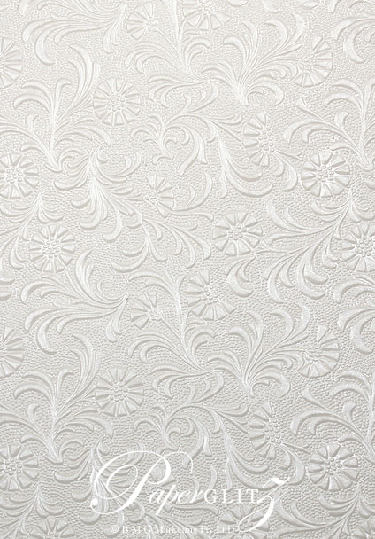 Wholesale Paper Handmade Embossed Tuscany White Pearl A4