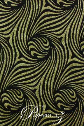 Glamour Add A Pocket 14.85cm - Glitter Print Venus Black & Gold Glitter