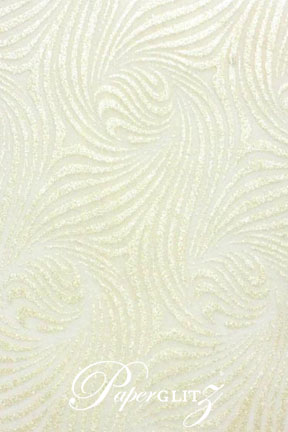 Handmade Chiffon Paper - Venus White & Pearl Glitter Full Sheets (56x76cm)