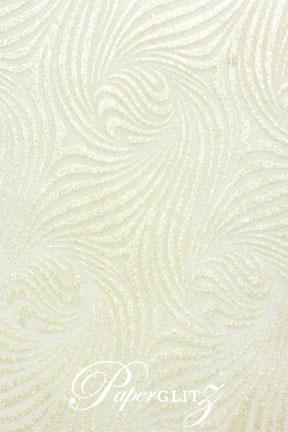 Handmade Chiffon Paper - Venus White & Pearl Glitter A4 Sheets