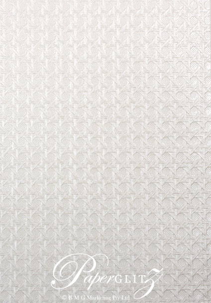 Petite Glamour Pocket - Embossed Wicker White Pearl