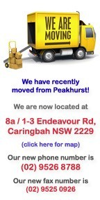 We have moved to Caringbah!