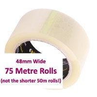 Packaging Tape - Clear Acrylic - 48mm x 75mtr