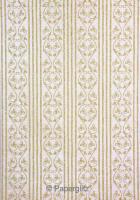 Glamour Add A Pocket 9.9cm - Glitter Print Bliss White Pearl & Gold Glitter