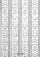 Glamour Pocket DL - Glitter Print Bliss White Pearl & Silver Glitter