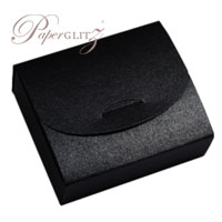 Purse Box - Crystal Perle Metallic Glittering Black