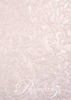 Glamour Pocket 150mm Square - Embossed Botanica Baby Pink Pearl