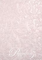Handmade Embossed Paper - Botanica Baby Pink Pearl Full Sheet (56x76cm)
