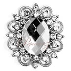 Brooch - Victorian Oval Clear