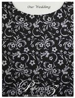 Glamour Pocket C6 - Glitter Print Amelia Black & Silver Glitter