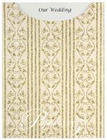 Glamour Pocket C6 - Glitter Print Bliss Ivory Pearl & Gold Glitter
