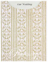 Glamour Pocket C6 - Glitter Print Bliss White Pearl & Gold Glitter