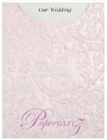 Glamour Pocket C6 - Embossed Botanica Baby Pink Pearl