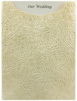 Glamour Pocket C6 - Embossed Bouquet Ivory Pearl