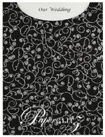 Glamour Pocket C6 - Glitter Print Chloe Black & Silver Glitter