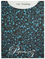 Glamour Pocket C6 - Glitter Print Chloe Black & Turquoise Glitter