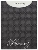 Glamour Pocket C6 - Embossed Cross Stitch Black Pearl