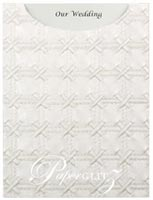 Glamour Pocket C6 - Embossed Cross Stitch White Pearl