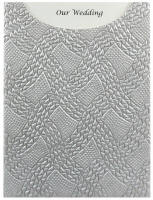 Glamour Pocket C6 - Embossed Destiny Silver Pearl