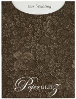 Glamour Pocket C6 - Embossed Flowers Chocolate Pearl