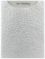 Glamour Pocket C6 - Embossed Flowers White Matte