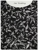 Glamour Pocket C6 - Glitter Print Enchanting Black & Silver Glitter