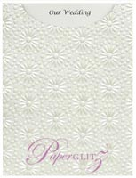 Glamour Pocket C6 - Embossed Eternity White Pearl