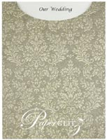Glamour Pocket C6 - Embossed Grace Pewter Pearl