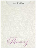 Glamour Pocket C6 - Embossed Grace White Pearl