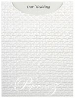 Glamour Pocket C6 - Embossed Jute White Pearl