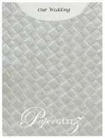 Glamour Pocket C6 - Embossed Leatherette Silver Pearl