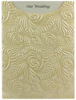 Glamour Pocket C6 - Embossed Majestic Swirl Ivory Pearl