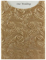 Glamour Pocket C6 - Embossed Majestic Swirl Mink Pearl