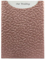 Glamour Pocket C6 - Embossed Modena Colonial Rose Pearl