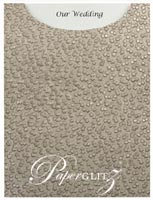 Glamour Pocket C6 - Embossed Modena Pewter Pearl