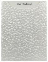 Glamour Pocket C6 - Embossed Modena White Pearl