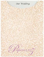 Glamour Pocket C6 - Embossed Pebbles Baby Pink Pearl
