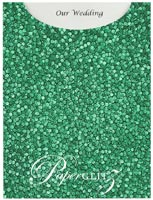 Glamour Pocket C6 - Embossed Pebbles Emerald Green Pearl