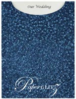 Glamour Pocket C6 - Embossed Pebbles Peacock Navy Blue Pearl