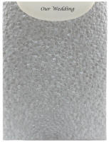 Glamour Pocket C6 - Embossed Pebbles Silver Pearl