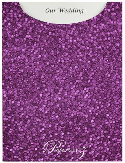 Glamour Pocket C6 - Embossed Pebbles Violet Pearl