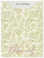 Glamour Pocket C6 - Glitter Print Ritz White & Gold Glitter