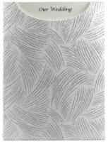 Glamour Pocket C6 - Glitter Print Ritz White Pearl & Silver Glitter