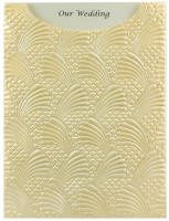 Glamour Pocket C6 - Embossed Sea Breeze Ivory Pearl