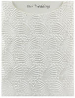 Glamour Pocket C6 - Embossed Sea Breeze White Pearl