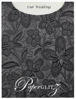 Glamour Pocket C6 - Embossed Spring Black Pearl
