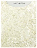 Glamour Pocket C6 - Embossed Spring Ivory Pearl