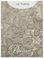 Glamour Pocket C6 - Embossed Spring Pewter Pearl